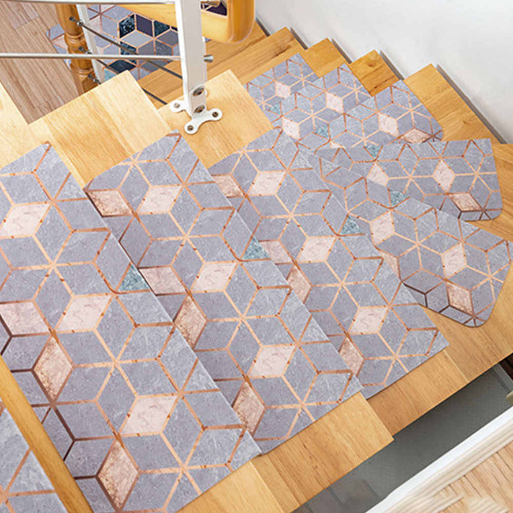 Pvc Self Adhesive Stair Treads Staircase Non Slip Mat Rug Cover | Sticky Carpet For Stairs | Self Adhesive | Mat | Sticky Bottom | Flooring | Anti Slip