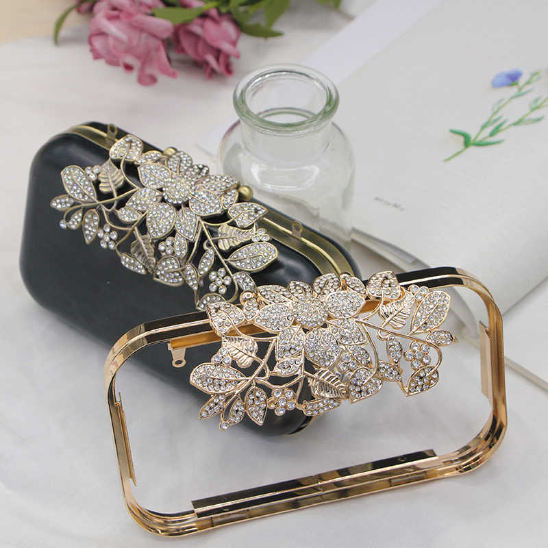 Drei Form Silber gold antike messing farbe metall geldbörse rahmen box kupplungen rahmen obag griffe handtasche zubehör DIY Brieftasche Tasche