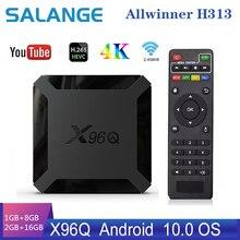 X96Q Smart Box z systemem Android 10. W wieku 0 TV, pudełko Allwinner H313 czterordzeniowy 2GB 16GB, wsparcie 4K Netflix Youtube X96 p zestaw Top odtwarzacz multimedialny Box