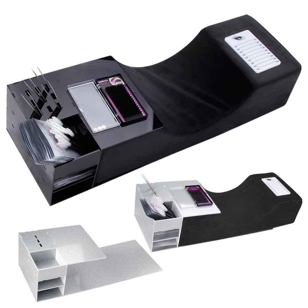 Memory Foam Lash Pillow Acrylic Shelf Ergonomic Eyelash Extension Neck Pillow Soft Grafting Salon Use Special Neck Support Tools