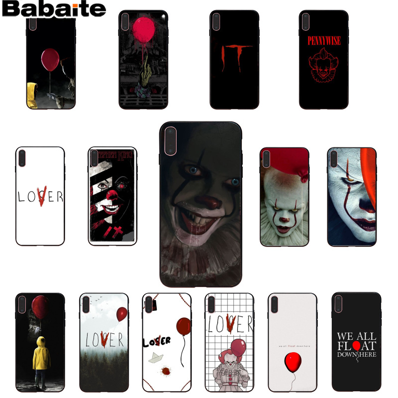 Babaite Stephen King s It pennywise Soft Rubber black Phone <font><b>Case</b></font> for <font><b>iPhone</b></font> 5 5Sx 6 7 7plus 8 8Plus X XS MAX <font><b>XR</b></font> image
