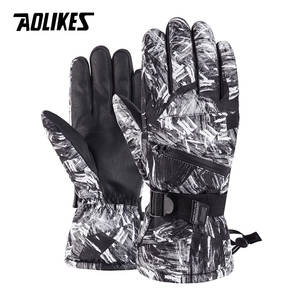 AOLIKES Ski-Gloves Touch-Screen Snowboard Skiing Waterproof Winter Riding Warm for 5-Finger