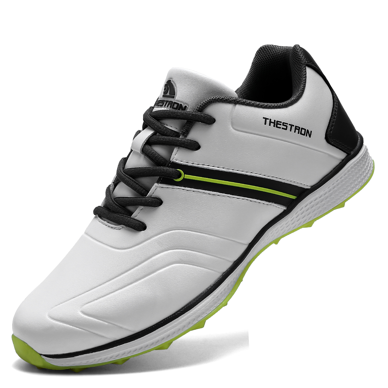 Homem à Prova Sapatos de Golfe Esportivos para Golfe Dwaterproof Água Clássico Branco Preto Spikeless Golfe Esporte Treinamento Tênis Anti Deslizamento Sapatos