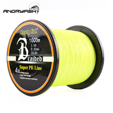 Angryfish High quality material Wholesale 1000m 4x Braided Fishing Line 8 Colors Super PE Strong Strength Very endurance