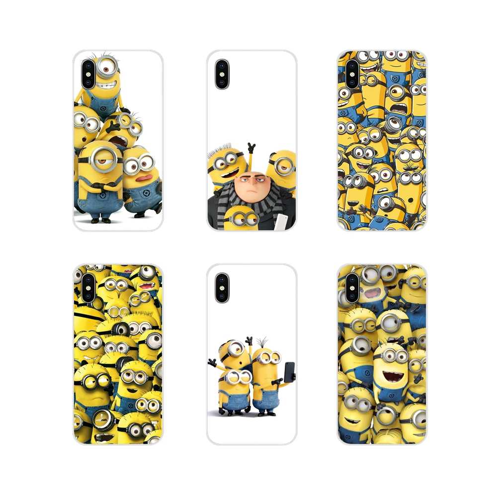 Mode Gru Minions Leger Voor Samsung Galaxy S3 S4 S5 Mini S6 S7 Rand S8 S9 S10 Lite Plus Note 4 5 8 9 Tpu Transparante Huid Cover