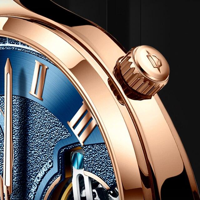 AILANG Original design watch men's double flywheel automatic mechanical watch fashion casual business men's clock Original 4