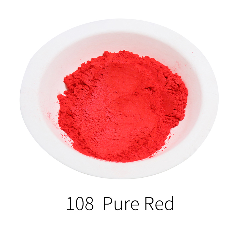Pure Red Mica Pigment Pearl Powder DIY Mineral Dye Colorant Dust YB108 For Soap Crafts Ceramic Colorant