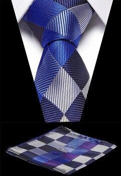 Wedding Men`s Necktie 7.5cm Hight Quality 100% Silk Handkerchief Set  Formal Dress Accessories Mens Classic Tie
