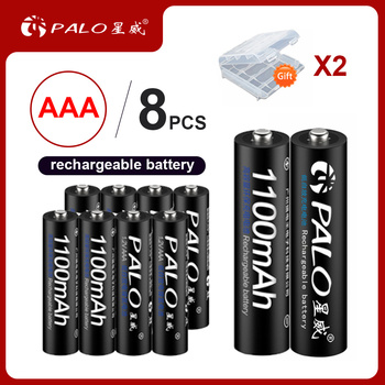 PALO 4-24pcs 1.2v NIMH AAA Battery 3A 1100MAH AAA Rechargeable Battery aaa ni-mh batteries battery rechargea for flashlight toys voxlink aaa battery 1 2v 1100mah 8pcs rechargeable battery pre charged recharge ni mh rechargeable battery for camera microphone