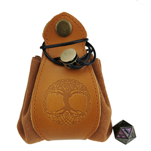 Handmade Dice Bag - Tray Coin Purse Actual Leather with Custom Logo Draw String Pouch for DND RPG D&D Games(China)