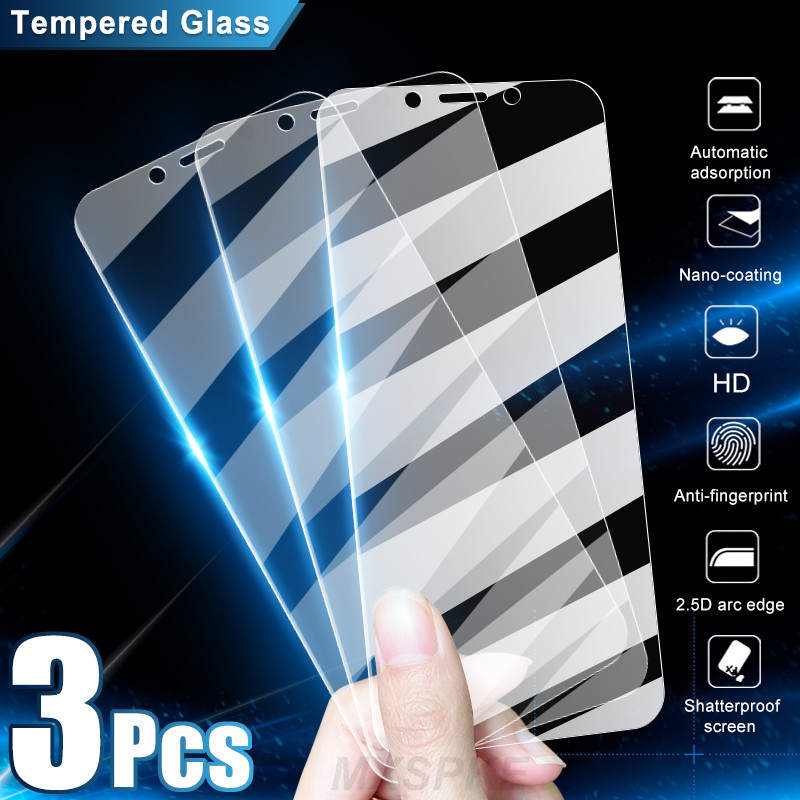 3Pcs Film Tempered Glass For Xiaomi Redmi 9 9A 9C NFC 6 K40 Pro Screen Protector For Redmi Note 9 6 7 7A 6A 9S Pro Max Glass