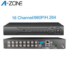 A-ZONE 960P 16ch Dvr Ahd Cctv Surveillance Video Recorder Twee Weg Audio Onvif P2P H.264 Dvr Voor Home Security camera Systeem(China)
