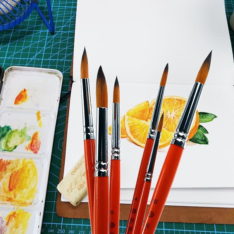 Artist Weasel Hair Brush Pen for Gouache Watercolor Paint Oil Painting Gift D
