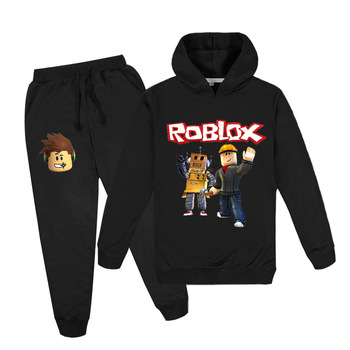 2020New Cotton Childrens Wear In Autumn  Winter, Spring Print Big boys And Girls in cartoon robox Hoodie + corset