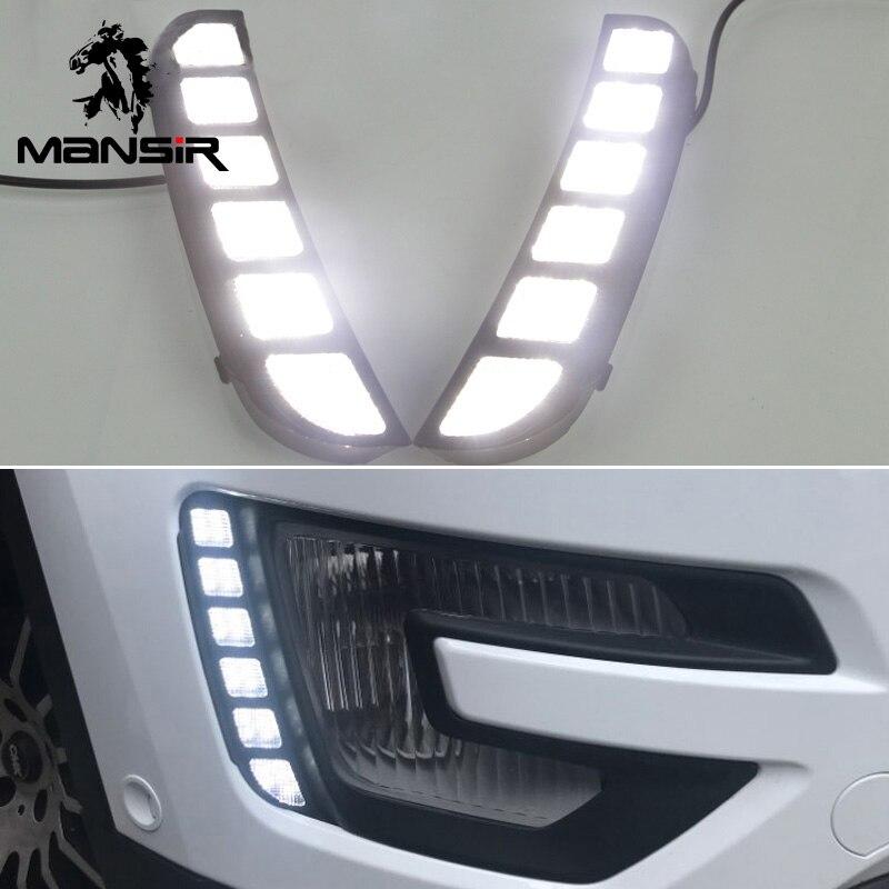 Auto Nebel Lampe LED DRL Daylights Für Ford Explorer 2016 2017 Gelb Signal Auto Scheinwerfer Tagfahrlicht