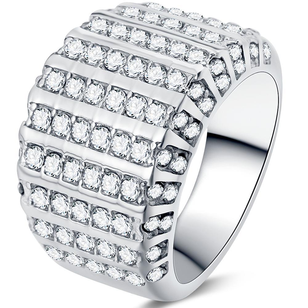 Размер 4-12 чистое кольцо из нержавеющей стали для свадьбы и Помолвки подарки на день матери коктейльное предложение для свадьбы