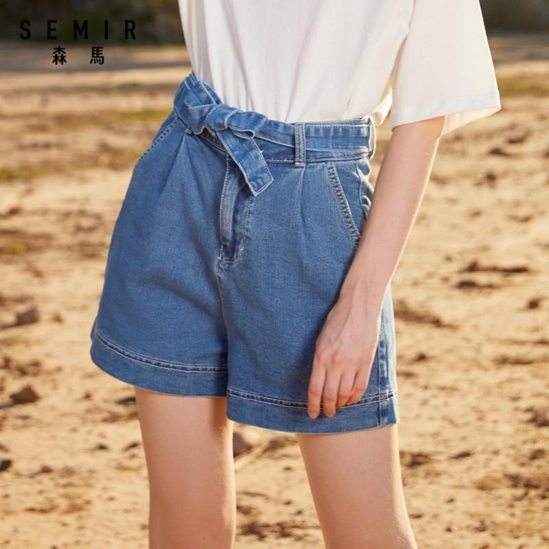 Semir Denim Shorts Women 2019 New Comfortable Thin Wide Leg Pants Female Tide Ins Wind Summer