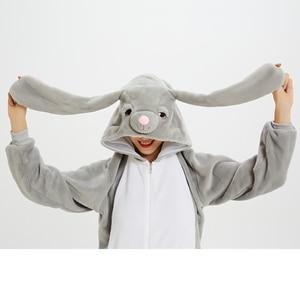 Image 5 - Unisex Kigurumi Adult Unicorn Pajamas onesie Cosplay Women Winter Flannel Pajama unicornio Sleepwear Overall Couple pijama