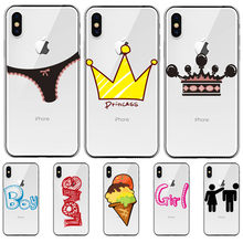 Luxury cartoon For iPhone X XR XS Max 5 5S SE 6 6S 7 8 11 Pro Plus phone Case Cover phone Funda Coque Etui capinha KING CUTE(China)