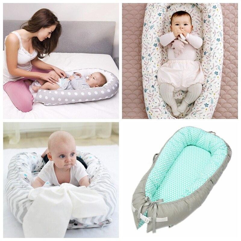 Chaise longue bébé coton nouveau-né chaise longue détachable Portable lavable bébé blottir nid voyage couchette pour enfant en bas âge - 6