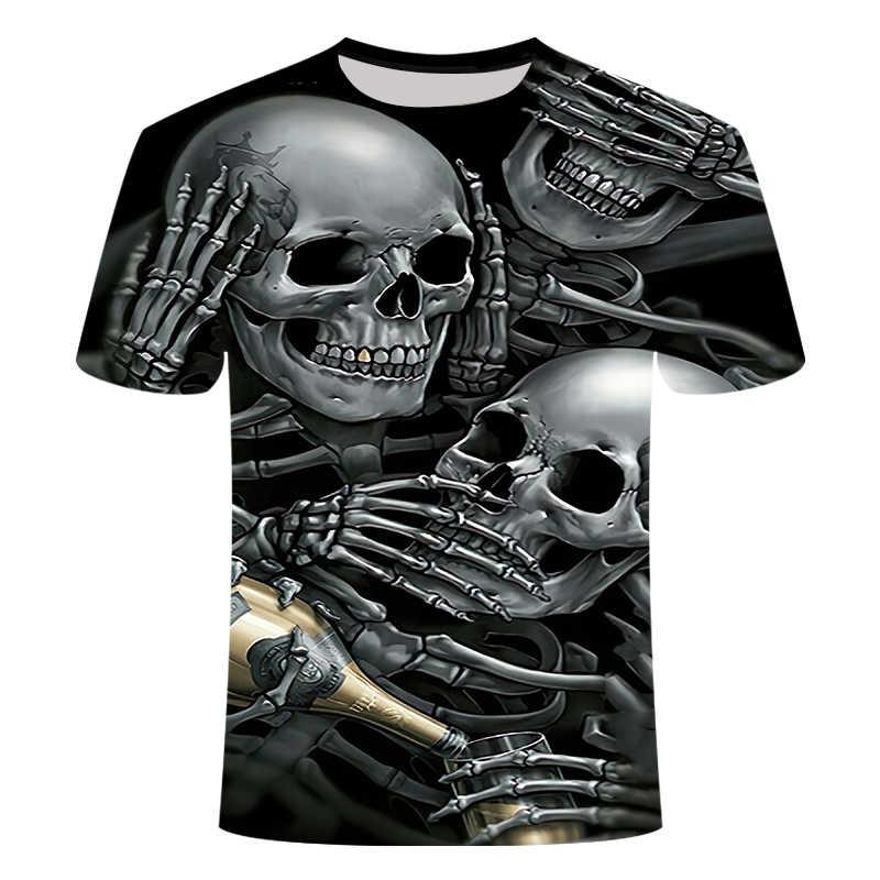 ドロップ船夏 NewFunny スカル 3d Tシャツ夏ヒップスター半袖 Tシャツ男性/女性アニメ Tシャツオム半袖トップス