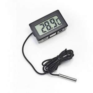 Coolers Fridges Temperature Digital Bathroom Mini for Freezers Black 1m-Probe LCD