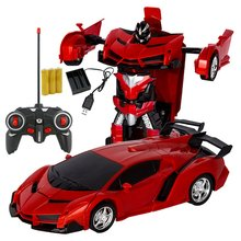 Robots-Toys Rc-Transformation Battery Remote-Control-Car Kids Sports with Gift 2-In-1