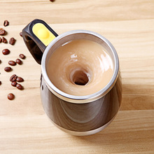 цена на 400ML Coffee Mug Stainless Steel Magnetic Self Stirring Automatic Cover Milk Mixing Mugs Electric Lazy Smart Shaker Coffee Cup