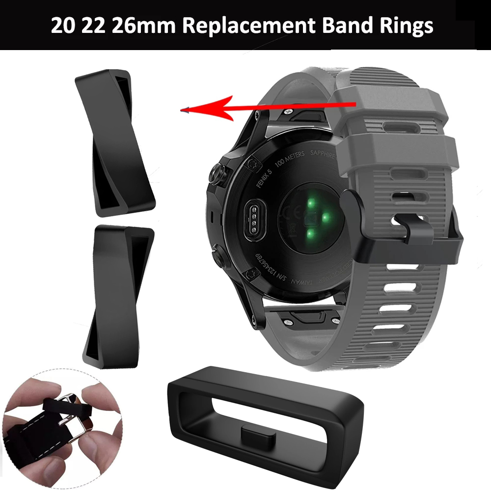 Silicone Band Watch Strap Keeper Loop Security Holder Retainer Ring For Garmin Fenix 5X 5 Plus For Garmin Fenix 6S 6X 6X Pro 5S