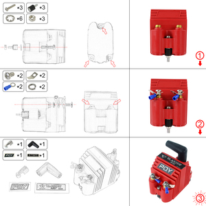 Image 2 - LZONE   Universal Blaster Ss 12V High Output External Male E Core Ignition Coil With Kits Adaptor JR EIC00 K
