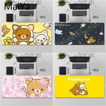 Высококачественный Прочный резиновый коврик для мыши Maiya Cute rilakkuma, бесплатная доставка, большой коврик для мыши, коврик для клавиатуры