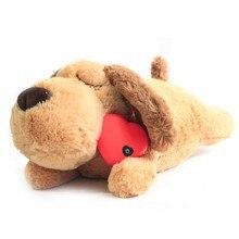 Bonito batimento cardíaco filhote de cachorro treinamento comportamental brinquedo de pelúcia animal de estimação confortável aconchegar ansiedade alívio sono ajuda boneca cão durável