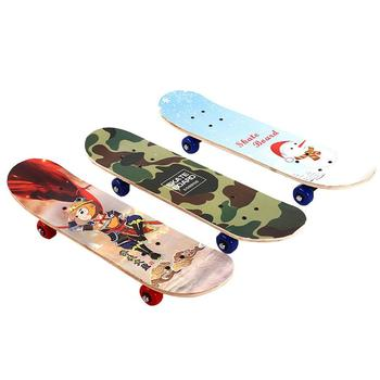 Maple Deck Skateboard Single Warping Slide Teenagers Fashionable Skate Board Longboard 60cm Popular Extreme Sports