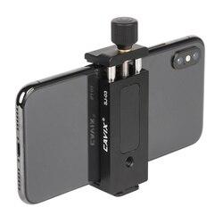 Moveski SJ-03 Smartphone statyw mocowanie zaciskowe aluminium Metal uniwersalny uchwyt zaciskowy klip dla 4-6.5 cala Smart Phone