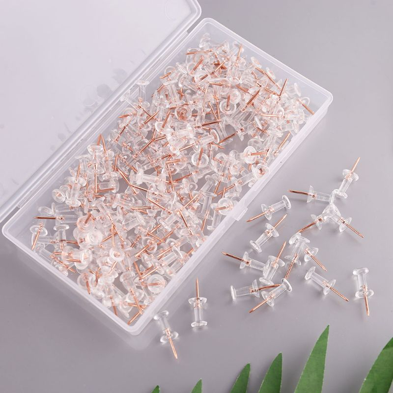 200pcs Push Pins Thumb Thumbtack Board Drawing PhotoWall Studs Office Supplies