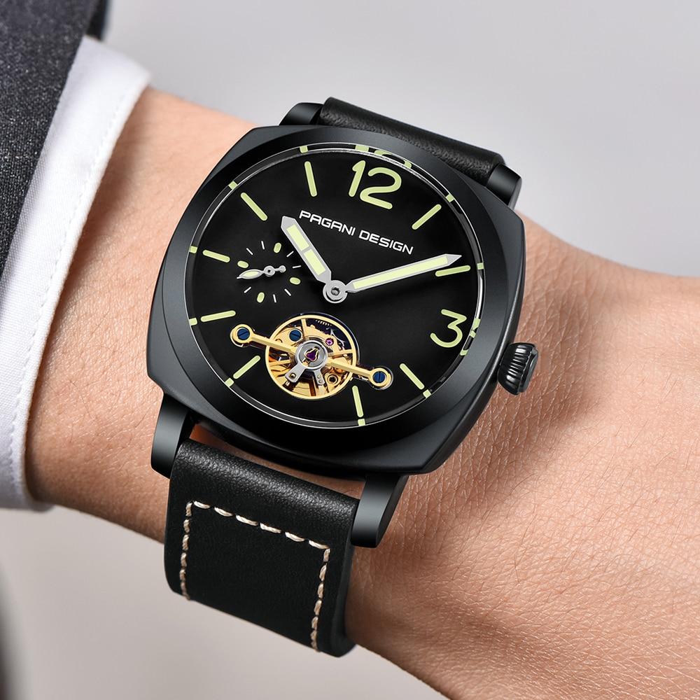 high quality PAGANI DESIGN Luxury Tourbillon Mechanical Watches Luminous Genuine Leather Fashion Casual Skeleton Automatic Watch free dropshipping 2020 (25)