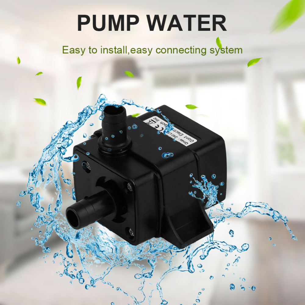 DC 12V Hydroponics Heating Mattress Food Mdical Super Sound-off Water Cooling Cycle Brushless Pressure Boost DC Pump