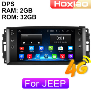 4G Android 2 Din Car Radio multimedia player For jeep Compass COmmander Grand Cherokee Wrangler Liberty Patriot navigation GPS(China)