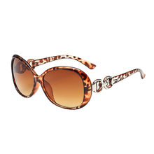 Leopard Double Ring Decoration Shades Sunglasses reflecterende Sun glasses Women Integrated UV Glasses lentes de sol hombre #W3(China)