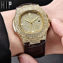 Hip Hop Fashion 5 Colors Men Iced Out Watches Luxury Date Quartz Wrist With Micropave CZ Watch For Women Jewelry