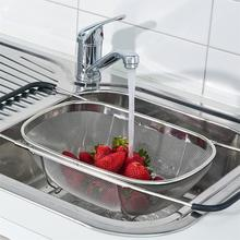 Stainless Steel Strainer Mesh Retractable Micro-Perforated Colander Draining Washing Rinsing For Fruits Vegetables Dishwasher
