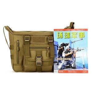 Image 4 - Тактическая Сумка слинг через плечо для мужчин, водонепроницаемая Спортивная Военная уличная дорожная сумка мессенджер Molle для ноутбука 14 дюймов