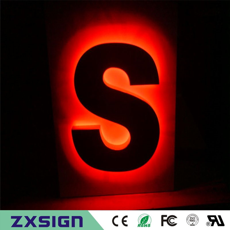 Factory Outlet Stainless Steel Back Lit Reverse Channel Letters