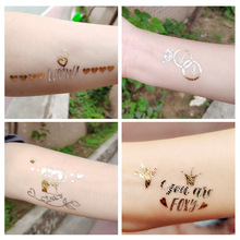 Wedding Tattoo Stickers Team Bride To Be Single Bridesmaid Party Gold and Silver