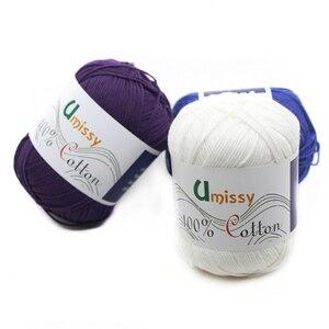 Image 5 - Fils à tricoter 100% coton, 10 pièces, fil Crochet pour tricot, Anti boulochage 500 g/ensemble