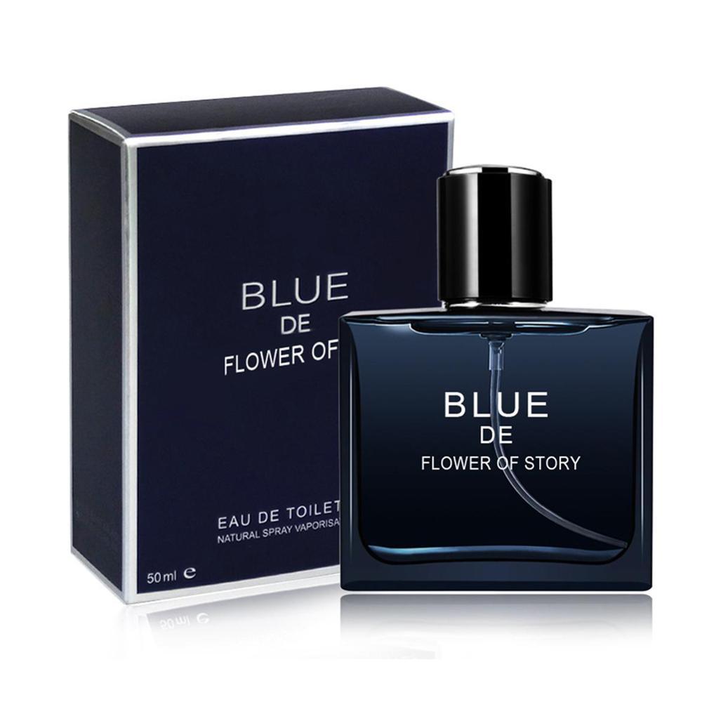 50ml Men Original Perfume Romantic Elegant Ocean Wood  Fresh Fragrance Body Spray Perfume Glass Bottle Atomizer Spray