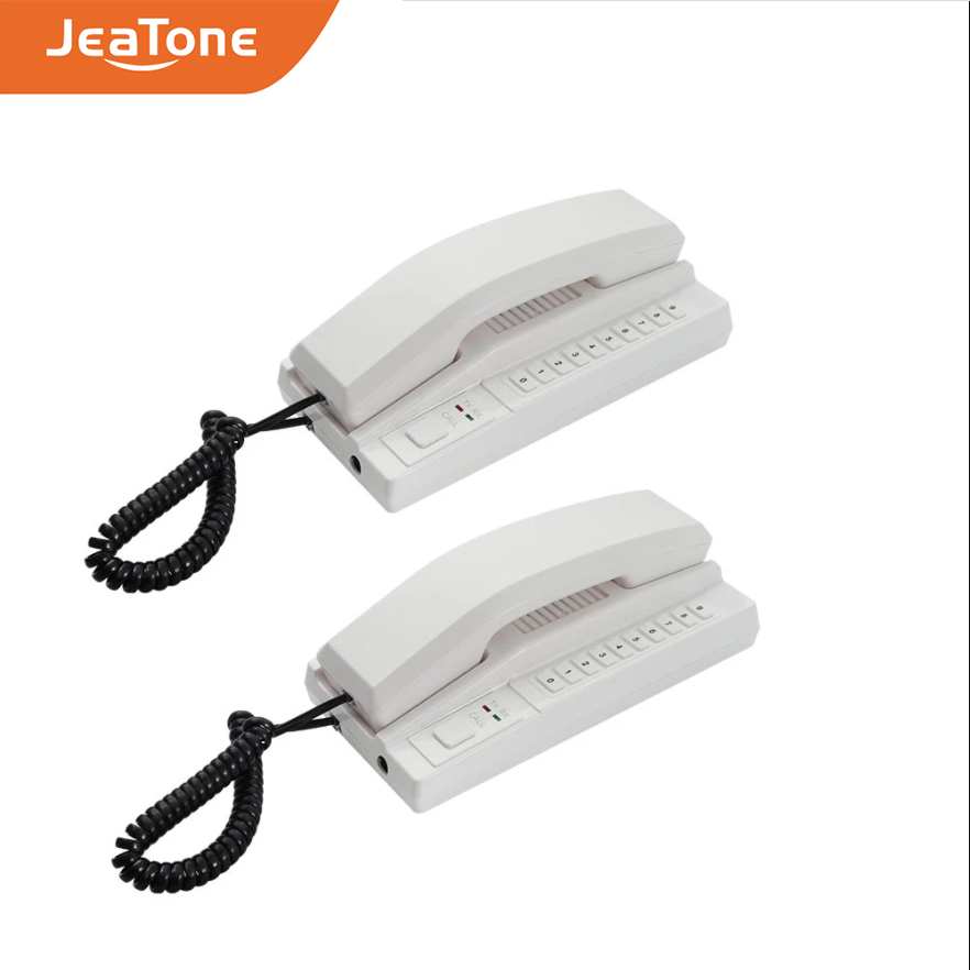 JeaTone New 2.4GHz Wireless Recharged Audio Door Phone Intercom System Secure Interphone Handsets  for home, warehouse, office