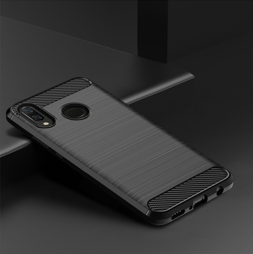 Brushed Texture Case For Huawei Y7 2019 Prime Y9 2018 Y6 Pro 2017 Y5 Lite Y3 9 7 6 5 3 Y9S Y7P Y6S Carbon Fiber Case Back Cover