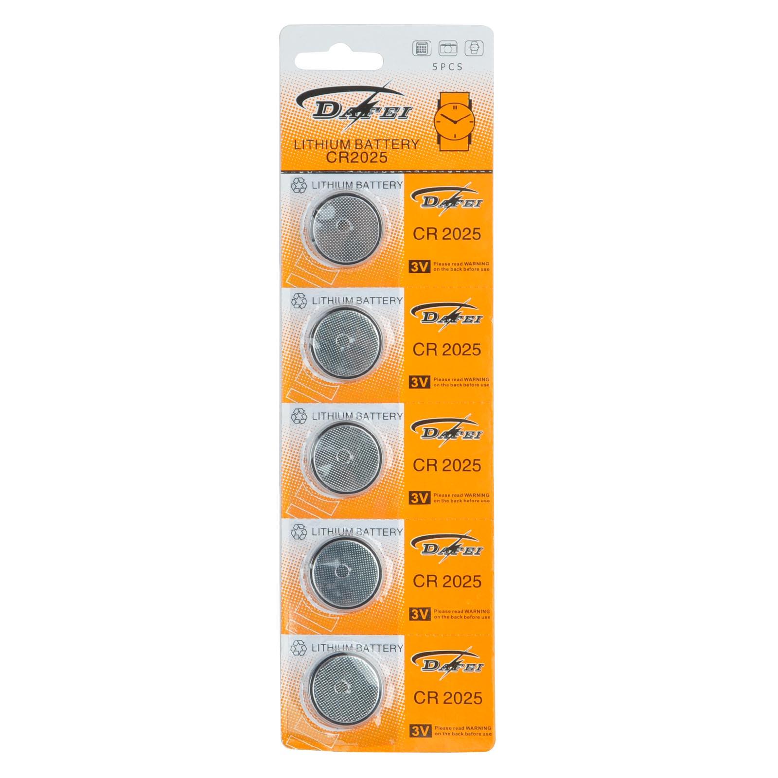 5x CR2025 3V литиевая батарея таблеточного типа монета Батарея часы замена менять батарейки часы детский электронная игрушка CR2025 батареи Аксесс...