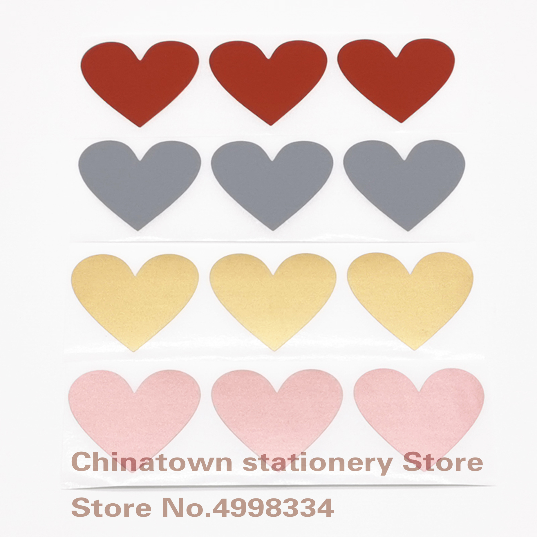 Off-Stickers Blank Secret-Code-Cover Wedding-Message Scratch Heart-Shape 30x35mm Gold-Color